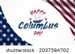 columbus day is observed every... | Shutterstock .eps vector #2037584702