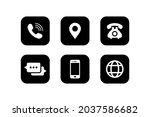 contact us icon set vector...