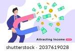 business man holding a big... | Shutterstock .eps vector #2037619028