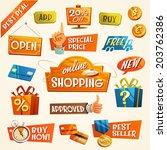 online shopping concept. vector ... | Shutterstock .eps vector #203762386