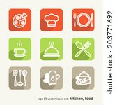 food. set of abstract pictures. ... | Shutterstock .eps vector #203771692