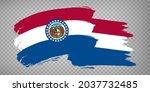 flag  missouri of united states ...