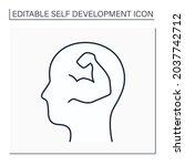 self confidence line icon.... | Shutterstock .eps vector #2037742712