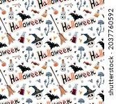 halloween vector pattern....   Shutterstock .eps vector #2037760592