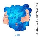 illustration of gemini... | Shutterstock .eps vector #2037764135