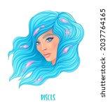 illustration of pisces... | Shutterstock .eps vector #2037764165