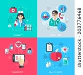 medicine healthcare services... | Shutterstock . vector #203776468