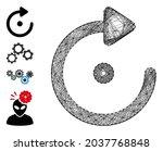 vector net rotation. geometric... | Shutterstock .eps vector #2037768848