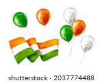 watercolor independence day...   Shutterstock . vector #2037774488