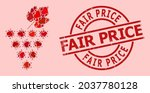 rubber fair price badge  and... | Shutterstock .eps vector #2037780128