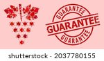 rubber guarantee badge  and red ... | Shutterstock .eps vector #2037780155