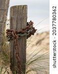 A Vertical Shot Of An Old Rusty ...