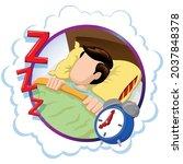 caucasian man person mascot...   Shutterstock .eps vector #2037848378