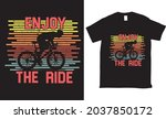 enjoy the ride bicycle tshirt...   Shutterstock .eps vector #2037850172