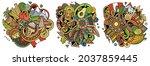 peru cartoon vector doodle... | Shutterstock .eps vector #2037859445