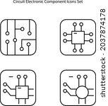 electronic circuit icon...
