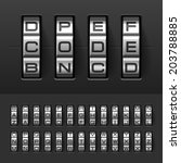 combination  code lock alphabet.... | Shutterstock .eps vector #203788885