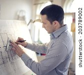 portrait of architect working...   Shutterstock . vector #203789002