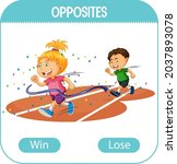 opposite words with win and...   Shutterstock .eps vector #2037893078