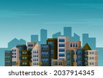 day city urban skyscraper... | Shutterstock .eps vector #2037914345