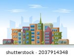 day city urban skyscraper... | Shutterstock .eps vector #2037914348