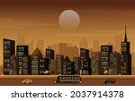 traffic city urban skyscraper... | Shutterstock .eps vector #2037914378