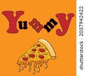 delicious retro pop art word... | Shutterstock .eps vector #2037942422