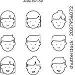 avatar icons set isolated on...