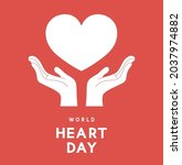 world heart day message with... | Shutterstock .eps vector #2037974882