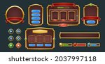 set of game frames  bars and...