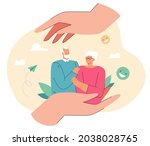 elderly man and woman in caring ...   Shutterstock .eps vector #2038028765