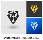 simple modern logo with one... | Shutterstock .eps vector #2038057268