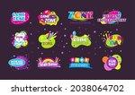 kids game zone fun day...   Shutterstock .eps vector #2038064702