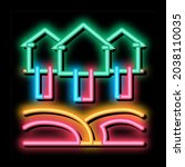 house natural heating neon...   Shutterstock .eps vector #2038110035