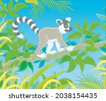 exotic tropical madagascar ring ... | Shutterstock .eps vector #2038154435