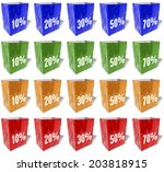 multicolored shopping bags ... | Shutterstock . vector #203818915