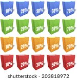 multicolored shopping bags ... | Shutterstock . vector #203818972