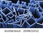 many different aluminum... | Shutterstock . vector #203821012