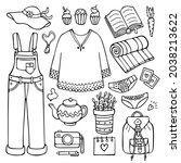 Doodle Set Of Female Clothes...