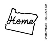 Oregon Us State Outline Map...