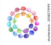 colorful watercolour painted... | Shutterstock .eps vector #2038275995