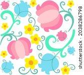 seamless vector pattern   a... | Shutterstock .eps vector #2038286798