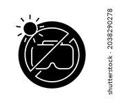 do not leave in sunlight black...   Shutterstock .eps vector #2038290278