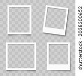 realistic empty photo frame...   Shutterstock .eps vector #2038300652