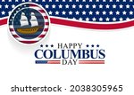 columbus day is observed every... | Shutterstock .eps vector #2038305965