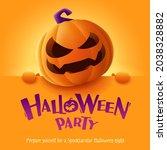 halloween party. 3d... | Shutterstock .eps vector #2038328882
