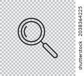magnifying glass line icon ...