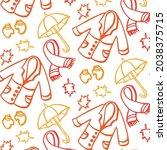 hand drawn seamless pattern... | Shutterstock .eps vector #2038375715