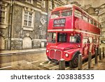 Red Double Decker Bus  Vintage...