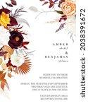 rust orange  beige  white rose  ... | Shutterstock .eps vector #2038391672